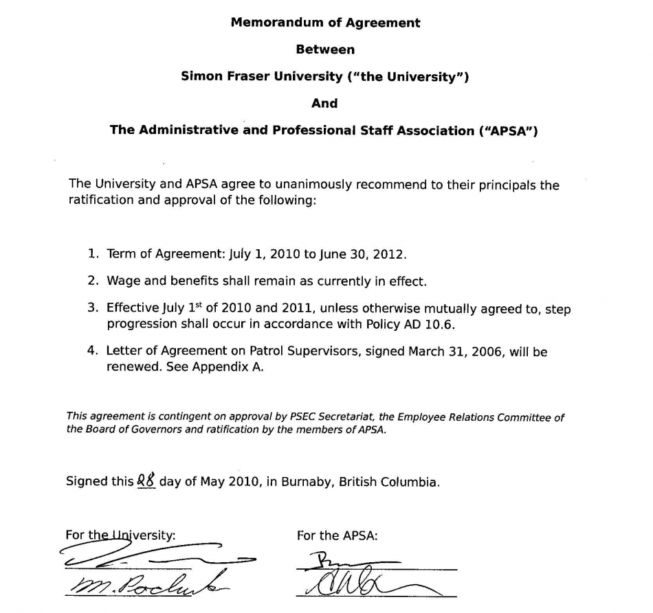 Memorandum Of Understanding For Employment Pictures to Pin on – Sample Memorandum of Agreement